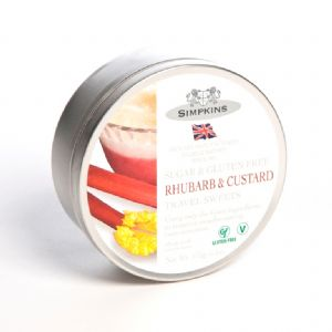 Rhubarb and Custard Sugar & Gluten Free - Simpkins Traditional Travel Sweets Tin 175g
